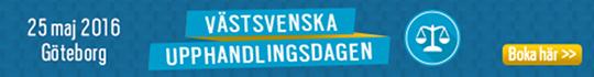 V�stsvenska upphandlingsdagen 25 maj 2016